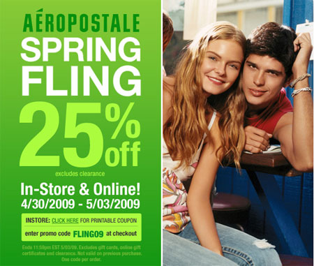Aeropostale sometimes offers coupons like these: