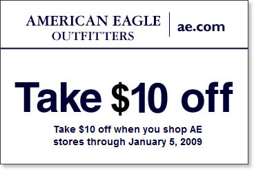 American Eagle Coupons Codes 2014