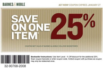 Barnes and Noble Coupons 2014