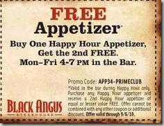 Black angus deals coupons