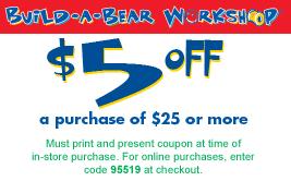 Build a Bear Coupons 2015