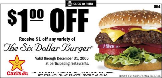 Carl's jr online coupons