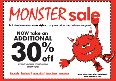 Childrens Place sometimes offers coupons like this one: