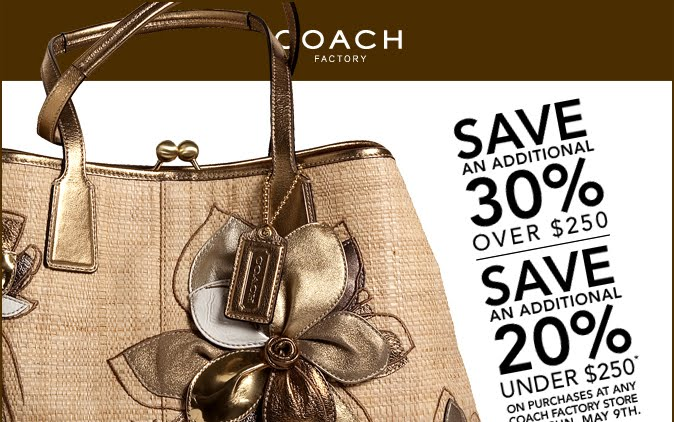 Coach factory outlet coupon free shipping