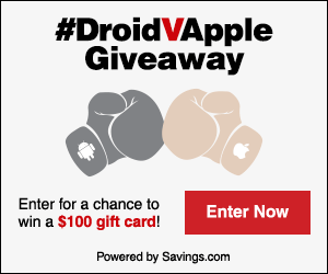 #DroidVApple $1000 Giveaway