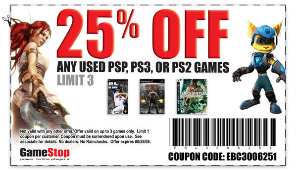GAMESTOP Coupons - Savings.com | 16% off All Used Games & Dvds