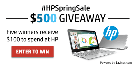 Enter now to win a $100 Visa Gift Card, courtesy of HP!