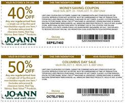 Oct 03,  · In Store: These two coupons have different barcodes so you can use them on 2 items with one transaction. Get 50% off your first and second item purchase. 40% Off Joann Fabrics Coupon – Total Purchase Printable & Mobile: Print this Joann coupons and present them in their craft stores to get 40% off your total purchase of regular price items /5().