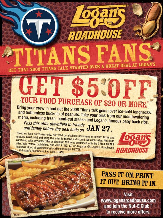 Logan's roadhouse coupons discounts