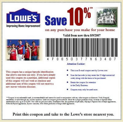Coupon codes for lowes