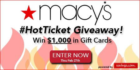 Macy's Hot Ticket Giveaway image