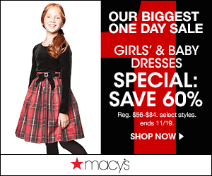 Macys 1 Day Girls Babies Dresses 300x250 Macys One Day Sale November 2014: Thanksgiving Sale