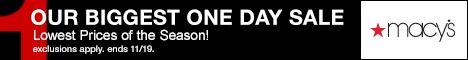 Macys Biggest One Day Sale 468x60 Macys Friends and Family Sale Dates 2014