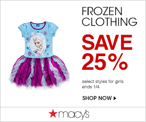Macys Frozen Clothing 300x250 Macys One Day Sale November 2014: Thanksgiving Sale