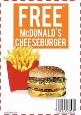 FREE MCDONALDS COUPONS ONLINE