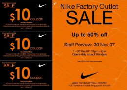 Nike Factory Store Promo Codes for December Save 40% w/ 7 active Nike Factory Store Sales and Third-party Deals. Today's best helmbactidi.ga Coupon Code: Buy 2 & Get 30% Off Your Purchase at Nike Factory Store. Get crowdsourced + verified coupons at Dealspotr/5().