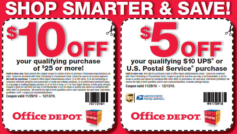 Office Depot Printable Coupons 2014
