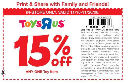 Toysrus com coupon code
