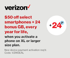 $50 off Select Smartphones at VZW