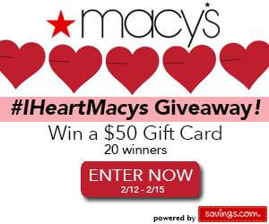 MACYS 10 COUPON GIVEAWAY