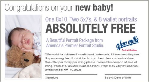 Printable: Free Wallet Portrait for Your Baby