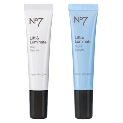 Save $2 on Boots No7 Lift & Luminate Day & Night Serum, now $22.99