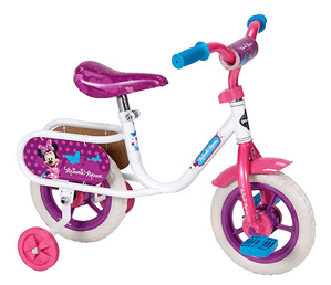 10inch Huffy Disney Minnie Girls' Bike, White - Only $29