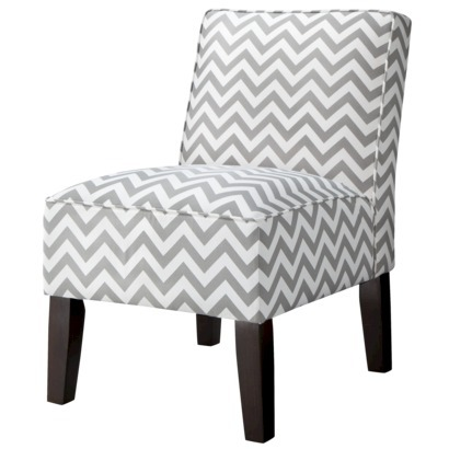 20% off Burke Slipper Chair-Chevron - $127.99