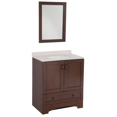 "43% Off Cordova 31"" Vanity with Top & Mirror, now $198.36"