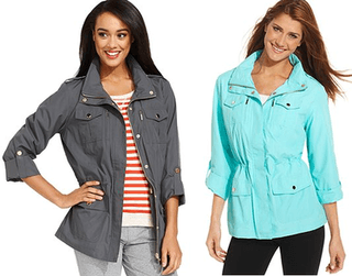 20% off Style&Co. Sport Roll-Tab-Sleeve Hooded Anorak Jacket - $39.19