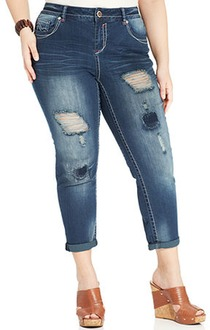$36 off Hydraulic Plus Size Bailey Destructed Cropped Jeans - $36.54