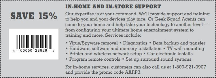 15% off In-Home & In-Store Support
