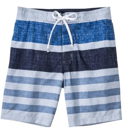 """50% off Merona Men's 9"""" Blue Stripe Boardshort"""