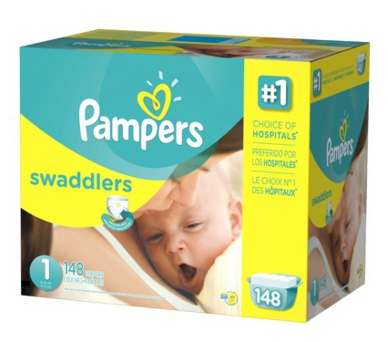 Free $20 Gift Card with 2 Pampers Swaddlers Diapers Giant Packs