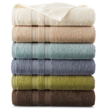 58% off 6 Piece Home Expressions Solid Bath Towels Set