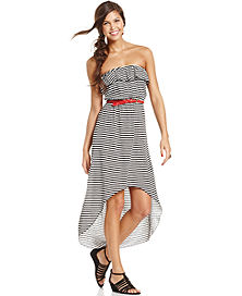 71% off Trixxi Juniors' Belted Printed High-Low Dress