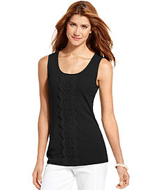 72% off Style&co. Lace-Panel Tank Top