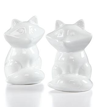 81% off Cellar Whitehouse Figural Fox Salt & Pepper Shakers