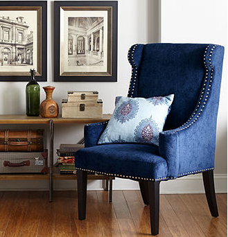 $300 off Royal Blue Gwen Fabric Accent Chair