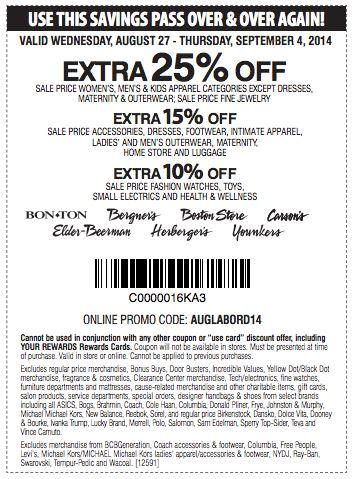 Printable: Extra 15% off Sale Accessories, Dresses, Footwear and More