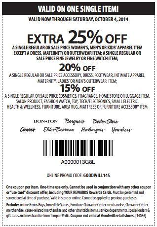 Printable: Extra 25% off Single Regular and Sale Select Items