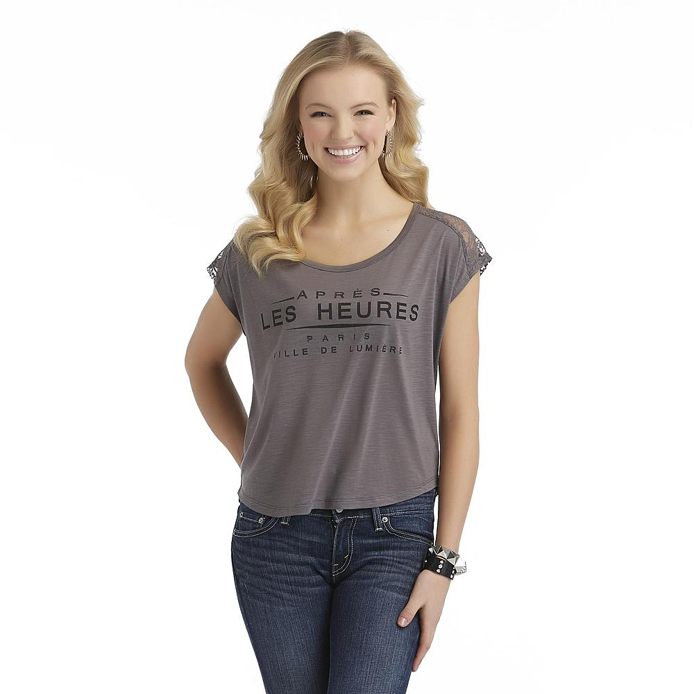 71% off True Freedom Junior's Charlie Lace Yoke Top