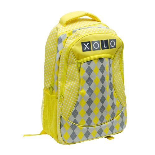 """11% off XOLO Sunny Yellow Plaid Print 16"""" Backpack"""
