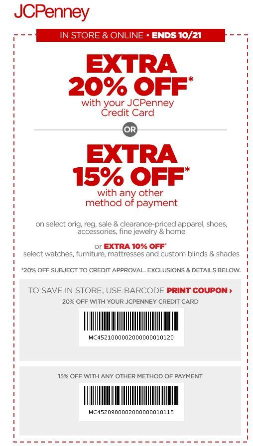 In Store: Extra 20% off All Orders When You Use Your Credit Card
