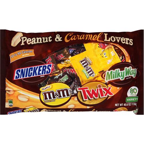 Mars Halloween Peanut and Caramel Lovers Candies, 40 oz- $8.98