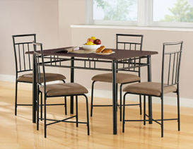 $15 Savings on Mainstays 5-Piece Wood and Metal Dining Set