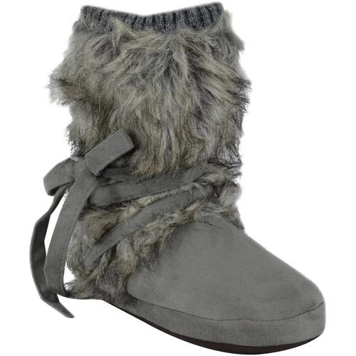 MUK LUKS Tonal Fur Wrap Boot for $16