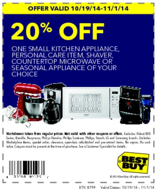 Printable: 20% off Small Kitchen Appliance, Personal Care Item or More