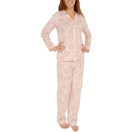 Purchase Women's Silky Fleece Notched Collar PJ Set for Only $20