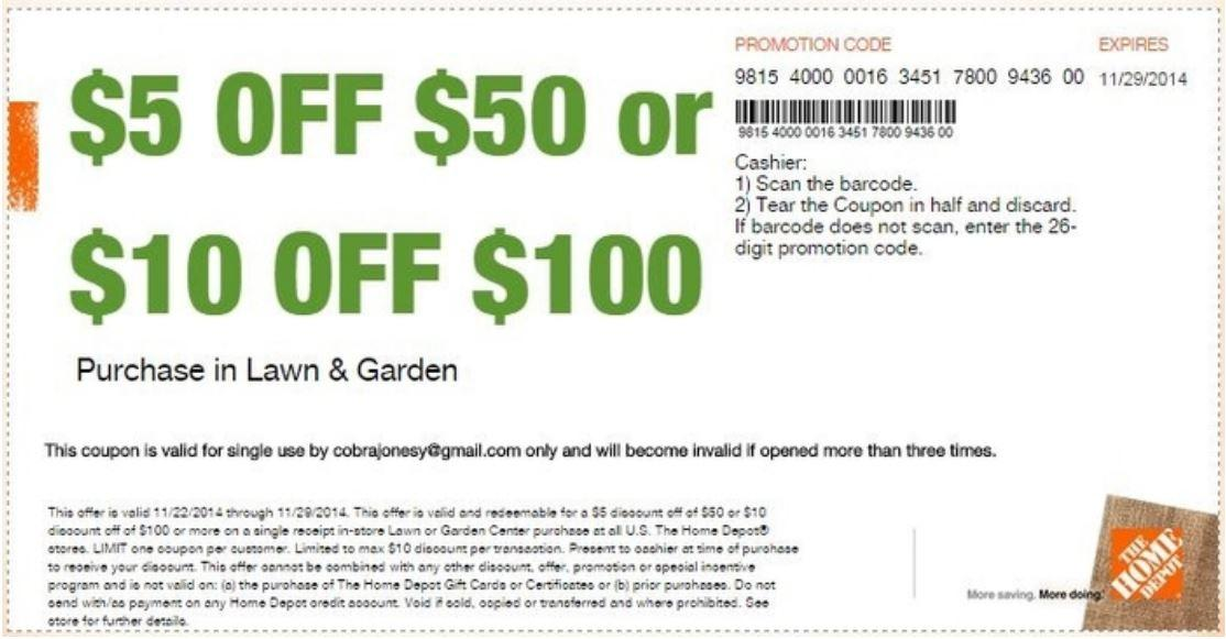 In-Store: Save $10 on Purchase of Lawn & Garden Worth $100 or More